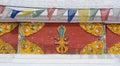 Tibetan Buddhist stupa door decorations Royalty Free Stock Photo