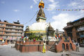 Tibetan buddhists stupa kathmandu nepal july an unidentified pilgrimageand tourists around boudnath follow around biggest in the Royalty Free Stock Images