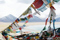 The Tibetan Budhhist Flags Stock Images
