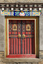 Tibetan door Stock Images