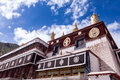 Tibetan house at the lhasa tibet Royalty Free Stock Photography
