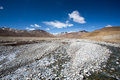 Tibetan landscape along the friendship highway between tibet and nepal Stock Photography