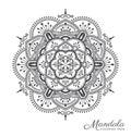 Tibetan mandala decorative ornament design Royalty Free Stock Photo