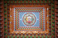 Tibetan mandala painting on monestery Royalty Free Stock Photography