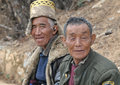 Tibetan men waiting in shangri la Royalty Free Stock Photos