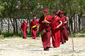 Tibetan monks Royalty Free Stock Photography