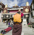 Tibetan nun in Lhasa Royalty Free Stock Images