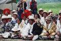 Tibetan people in new year Stock Photos