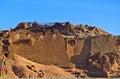 Tibetan plateau scene forsaken castle shigatse of tibet the was damaged in taken in the was rebuilt in Stock Photography