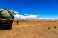 Tibetan plateau scene mt qomolangma everest national nature reserve taken in the way go to Stock Photos