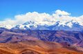 Tibetan plateau scene overlook everest mt qomolangma taken in the way go to base camp Stock Images