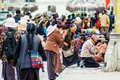 Tibetan plateau scene- Prayers Royalty Free Stock Photo
