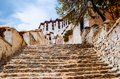 Tibetan plateau scene the stairs go to sacred potala palace taken in lhasa Stock Photo