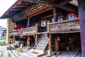 Tibetan plateau scene tibetan folk house taken in the shangrila of yunnan china Stock Image