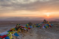 The tibetan plateau sunset on Stock Image