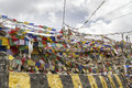 Tibetan prayer flags in Ladakh, India Royalty Free Stock Image