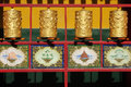 Tibetan prayer wheels Stock Photos