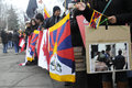 Tibetan protest toronto march tibetans with picture of chinese atrocities marching in a rally organized to against the chinese Royalty Free Stock Images