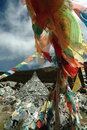Tibetan religion supplies - wind horse's banner Royalty Free Stock Photo