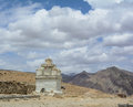 A Tibetan stupa on the mountain in Leh, India Royalty Free Stock Photo