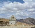 A Tibetan stupa on the mountain in Leh, India Royalty Free Stock Photo