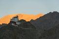 Tibetan stupa on top of mountain Royalty Free Stock Photo