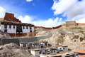 Tibetan temple in the mountain Royalty Free Stock Image