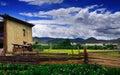 Tibetan villages Stock Image