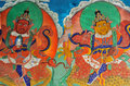Tibetan wallpainting Royalty Free Stock Photo