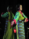 Tibetan women dance the institute of performing arts tipa is the premiere exile institute entrusted with the responsibility of Stock Images