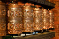 Tibetian prayer wheels Stock Photography