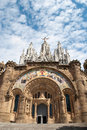 Tibidabo barcelona church in spain tourist destination Royalty Free Stock Images