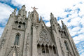 Tibidabo barcelona church in spain tourist destination Royalty Free Stock Image