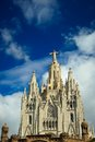Tibidabo church on mountain in barcelona basilica the Stock Photos