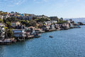 Tiburon city scenic view of the of california during a beautiful sunny day blue sky and soft Stock Photography