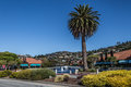 Tiburon streets view scenic of the city of california during a beautiful sunny day blue sky and soft clouds Royalty Free Stock Images