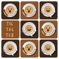 Tic-Tac-Toe of cappuccino