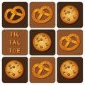 Tic-Tac-Toe of Cookie and Pretzel