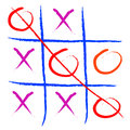 Tic tac toe game sketch Royalty Free Stock Photos