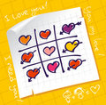 Tic Tac Toe Hearts Royalty Free Stock Photos