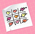 Tic Tac Toe Hearts Royalty Free Stock Image
