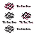 Tic tac toe logo for kids Stock Photography