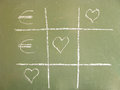 Tic-Tac-Toe love euro Stock Photography