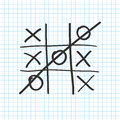 Tic tac toe. Noughts and crosses board game icon . Vector Royalty Free Stock Photo