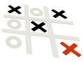 Tic tac toe the noughts and crosses game d Stock Photography