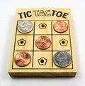 Tic-Tac-Toe - US Coins Royalty Free Stock Photo