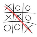 Tic-tac-toe winning Stock Photos