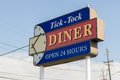 Tick Tock Diner Sign Royalty Free Stock Photo