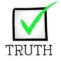 Tick truth shows no lie y aprobado Imagen de archivo