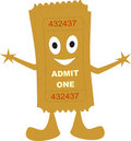 Ticket admit one Stock Images